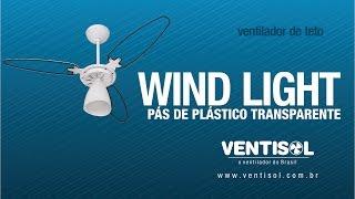 Ventilador de Teto Wind Light com Pás de Plástico Transparentes