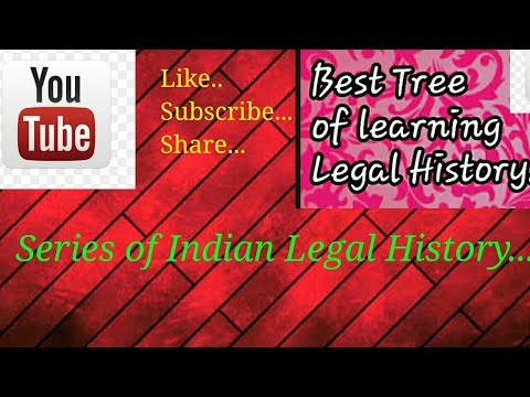 Series Of Topics Of Indian Legal History..