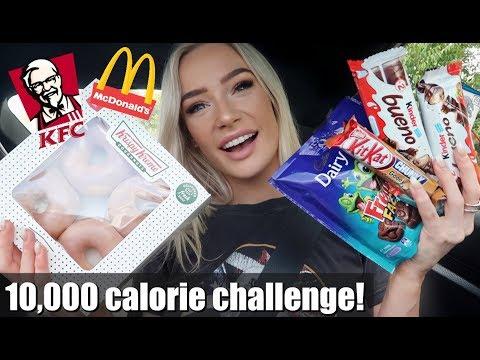 10,000 CALORIE CHALLENGE!   GIRL VS FOOD