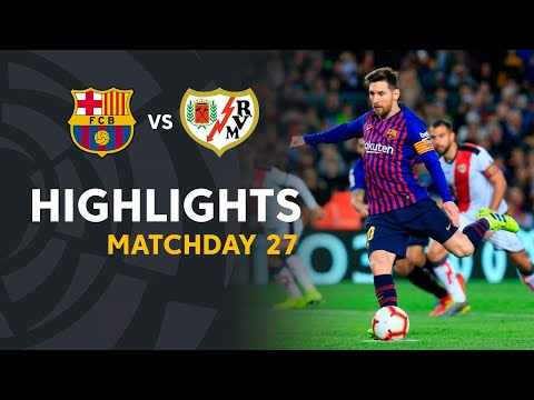 Highlights FC Barcelona Vs Rayo Vallecano (3-1)