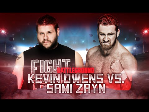 WWE Battleground 2016 - Kevin Owens vs Sami Zayn - WWE 2K16