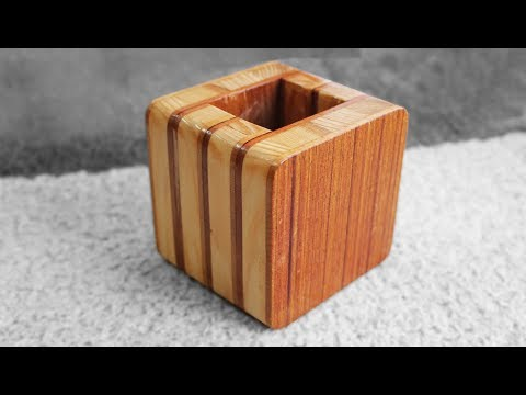 Woodworking projects - DIY Wooden Box Easy - Wooden Pencil Holder Plans