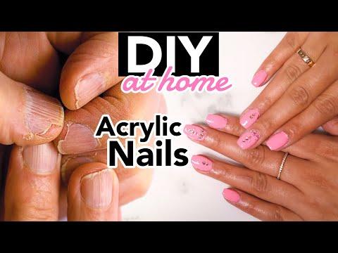 DIY Acrylic Nails At HOME!   EASY   jasmeannnn