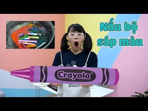Nấu Bộ Sáp Màu Để Làm Cây Bút Sáp Khổng Lồ Tặng Anh Hai - Giant Crayon - Thời lượng: 11 phút.
