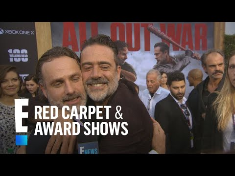 How Andrew Lincoln Broke Jeffrey Dean Morgan's Nose On-Set | E! Live from the Red Carpet