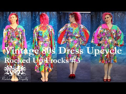 80s Vintage Dress Makeover. Rocked Up Frocks by Rockstars and Royalty - Episode 3