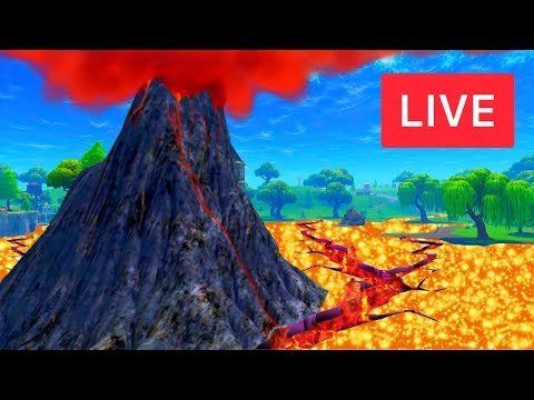 🔴 [LIVE] *NEW* CUBE VOLCANO EVENT AT LOOT LAKE! (FORTNITE BATTLE ROYALE)