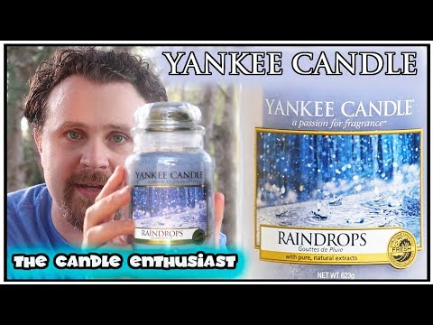 NEW - Yankee Candle - RAINDROPS - UK & US (???) - Limited Edition - Evaluation Review