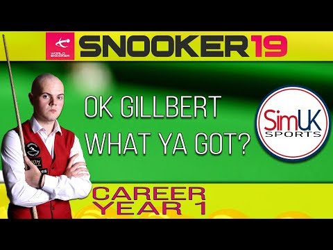 v's David Gilbert [16] ♢ RIGA MASTERS Qualifiers (2/2) ♢ Snooker 19 Career Mode (PC) S1 E2
