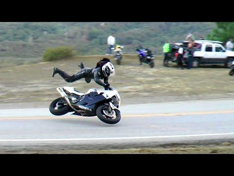A nap videója: Honda CBR600F4i highside