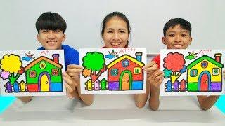Rumah berkilauan, Warna Warni Belajar Menggambar dan Mewarnai untuk Anak