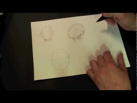How to Draw a Face !!! Drawing Lessons : Zeichenkurs Gesicht zeichnen Grundlage