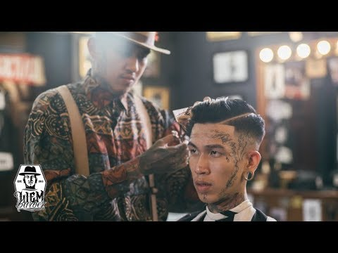 High Skin Fade and Pompadour   Liem Barber Shop's Collection