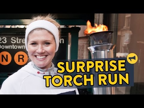Surprise Olympic Torch Run