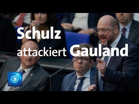Schulz wirft Gauland und AfD faschistische Rhetorik vor