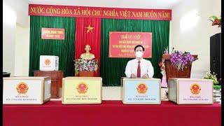 Phó Bí thư Thường trực Thành ủy, Chủ tịch HĐND, Chủ tịch Ủy ban bầu cử thành phố Phạm Tuấn Đạt dự khai mạc bầu cử tại khu 5B, phường Quang Trung