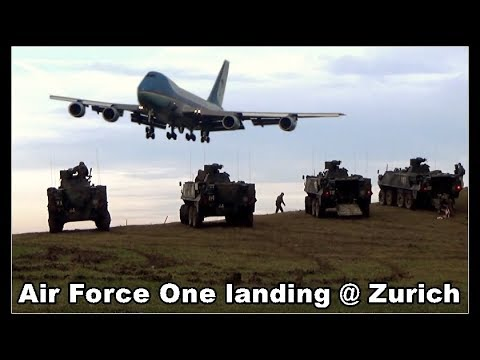 U.S. Air Force One landing at Zurich Airport, Planespotter's Dream, Switzerland