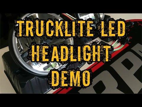 LED Headlight Demo - Trucklite Series 7 - 7