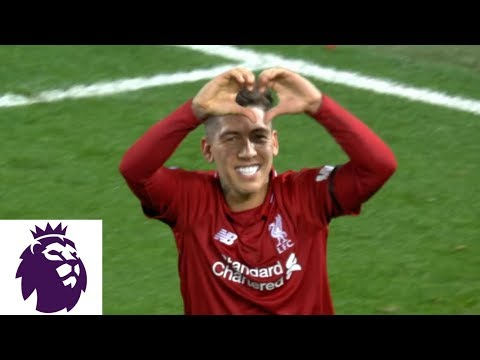 Roberto Firmino Scores Hat Trick For Liverpool Against Arsenal | Premier League | NBC Sports