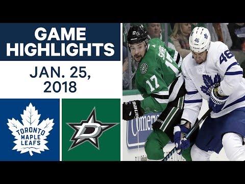 Video: NHL Game Highlights | Maple Leafs vs. Stars - Jan. 25, 2018