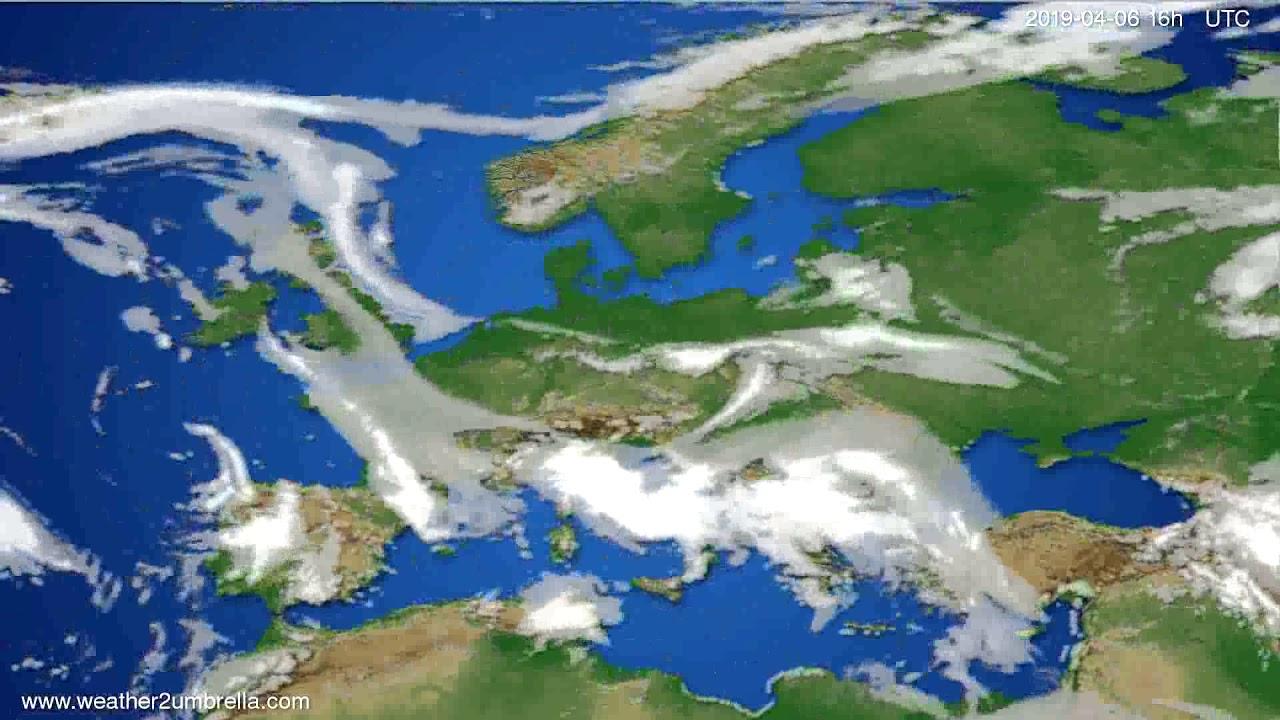 Cloud forecast Europe // modelrun: 00h UTC 2019-04-03