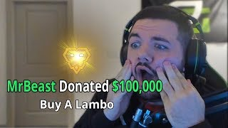 Donating $100,000 To A Random Fortnite Streamer