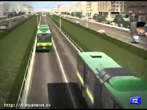 green line bus in karachi