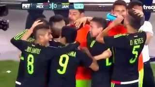 Tercer gol de Oribe Peralta tras un descuido de la defensiva de Jamaica