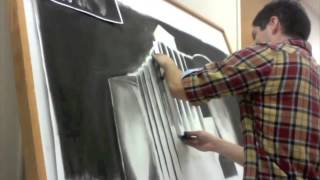 Large format drawing timelapse