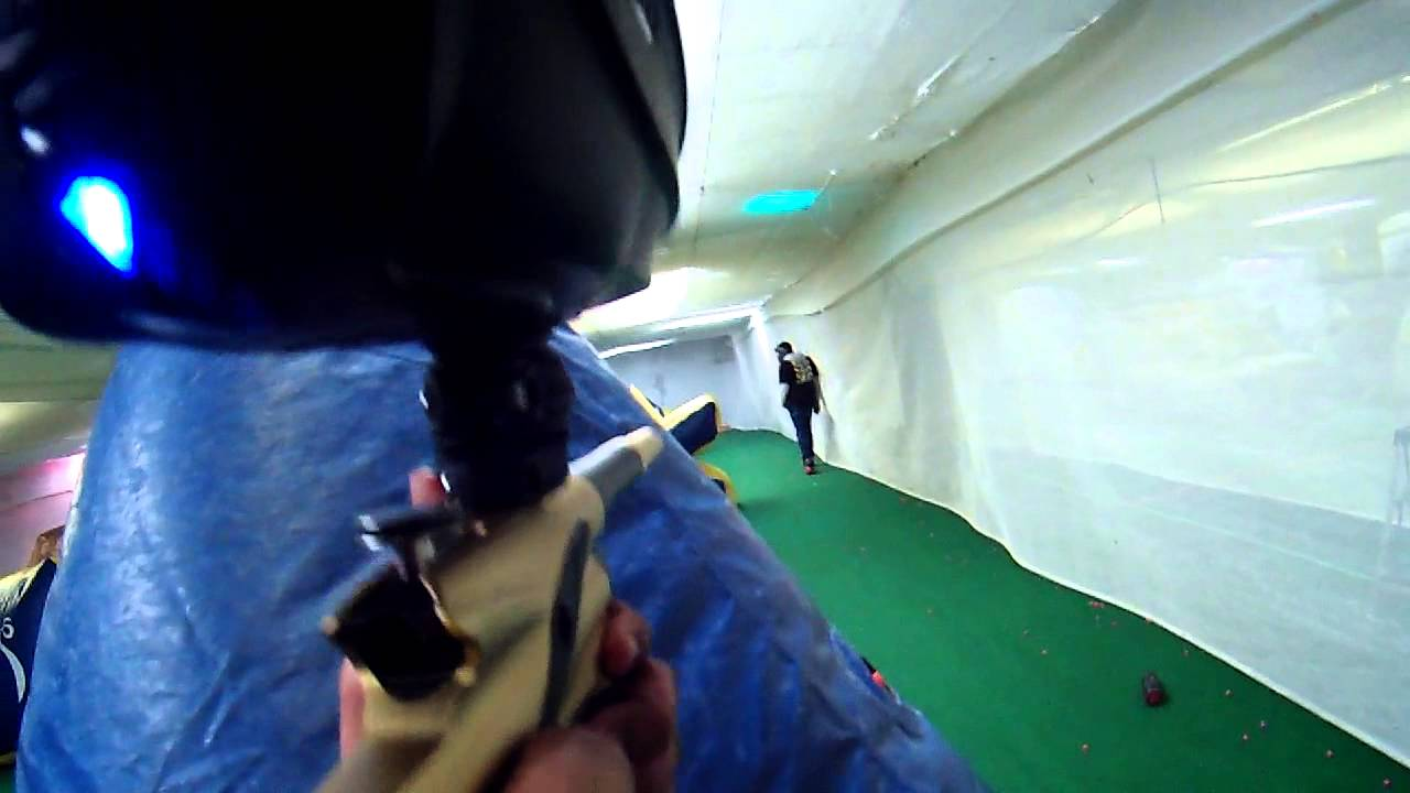Indoor Extreme Sports Paintball Game 1 Round 1 (etek 4)