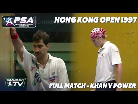#ThrowbackThursday - Jansher Khan v Jonathon Power - 1997 Hong Kong Squash Final