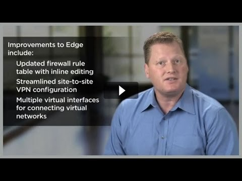What vCloud does for security and networking