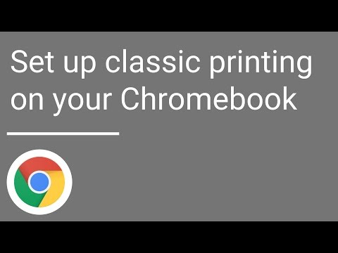 Set up classic printing on your Chromebook