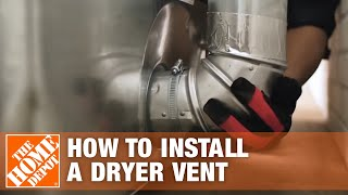 Venting a Dryer: How to Properly Install a Dryer Vent | The Home Depot