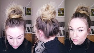 Make sure to give this video a Like or Comment!  And please Subscribe!!!Updated tutorial for a top knot or messy bun for fine hair!  Watch for the secret to getting your bun big and full even when you have fine and limp hair!  Super quick and easy hairstyle for lazy days, or days when you want to look effortless.Please subscribe and like this video for more easy beauty tips and tricks!check me out athttp://reneesway.com/https://www.instagram.com/reneesway82/https://www.pinterest.com/reneesway82/https://www.facebook.com/reneeswaybeauty/