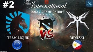 Вивер против Фантомки!   Liquid vs Mineski #2 (BO2)   The International 2018