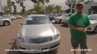 Autoline Preowned 2009 Infiniti G37 Sedan For Sale Used Walk Around Review Test Drive Jacksonville