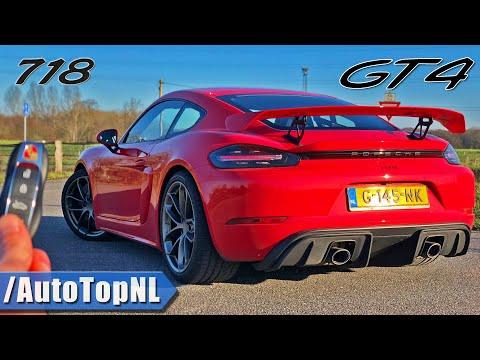 PORSCHE 718 GT4 REVIEW on AUTOBAHN (NO SPEED LIMIT) by AutoTopNL
