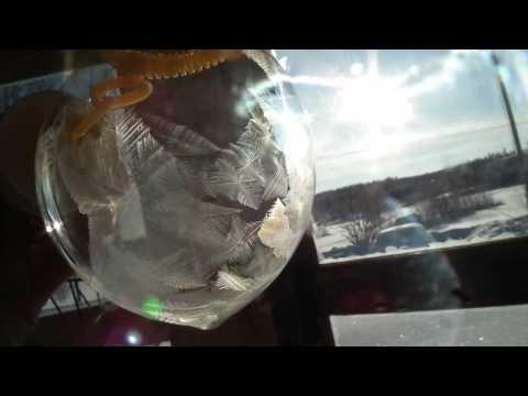 肥皂泡泡結冰過程,超酷!