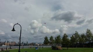 Hoboken (Nj) United States  city pictures gallery : United States Coast Guard Passing Above Hoboken, New Jersey