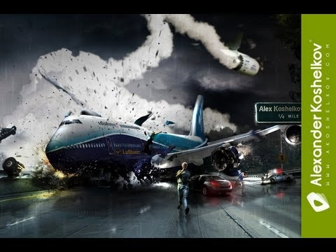 Photoshop Timelapse - Luftbanza Airlines