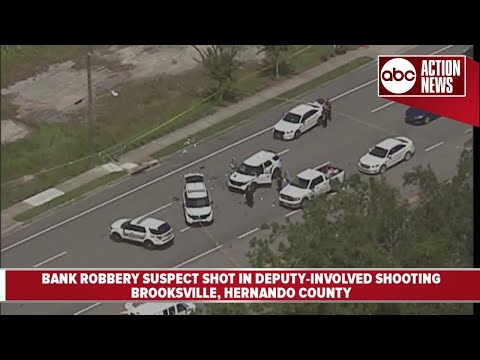 Bank robbery suspect shot in deputy-involved shooting in Brooksville