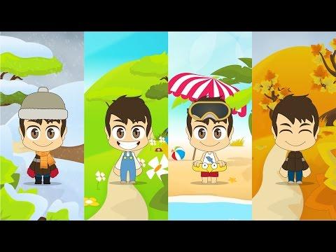 Learn Four Seasons in Arabic for Kids - تعلم الفصول الاربعة باللغة العربية للأطفال