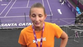 Eduarda Piai analisa estreia no Brasil Tennis Cup