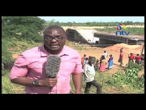 中共在肯尼亞建橋,還沒建完就倒塌了