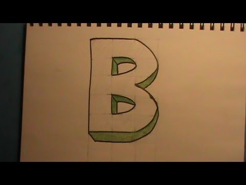 how to draw a pretty letter b