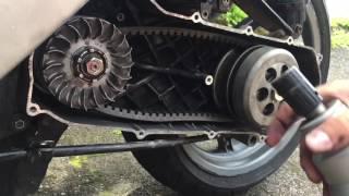 9. Aprilia SR 50 Drosselung entdrosseln/drosseln Variomatikring