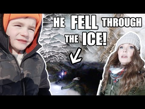 HE FELL THROUGH THE ICE INSIDE A GLACIER! | Somers In Alaska видео