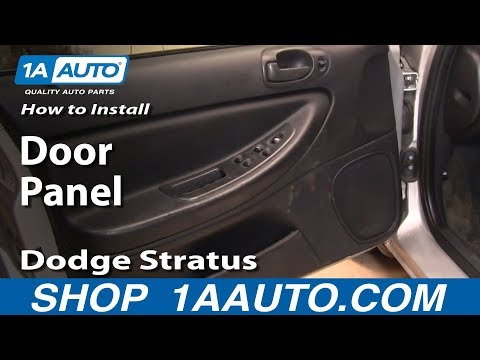 How To Install Replace Door Panel Dodge Stratus 01-06 1AAuto.com