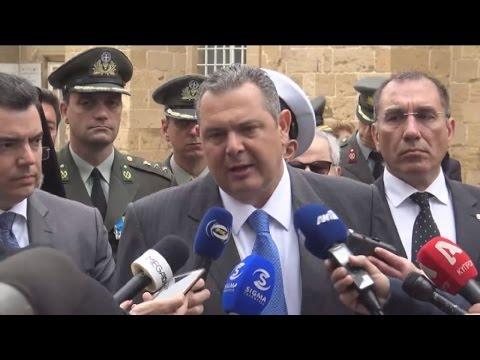 Π. Καμμένος: Πυλώνες σταθερότητας Ελλάδα και Κύπρος
